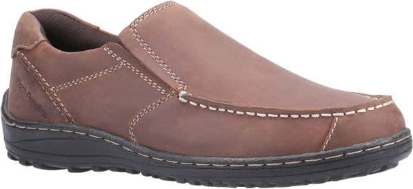 Hush Puppies Thomas Slip On Mens Shoes Brown